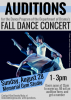 Fall Dance Concert Auditions Sunday August, 18, 2016 1 to 3pm